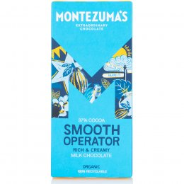 Montezumas Smooth Operator 37 percent  Milk Chocolate Bar - 90g