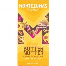 Montezumas Butter Nutter Peanut Butter Truffle Filled Milk Chocolate Bar - 90g