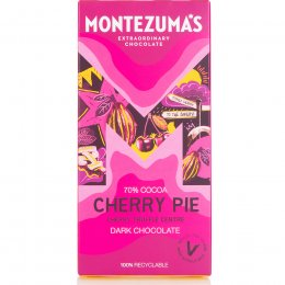 Montezumas Cherry Pie Black Cherry Truffle Filled Dark Chocolate Bar - 90g