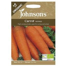 Johnsons Organic Carrot Seeds - Rothild