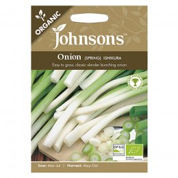 Johnsons Organic Spring Onion Seeds - Ishikura