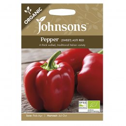 Johnsons Organic Pepper Seeds - Sweet Asti Red