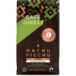 Cafedirect Machu Picchu Organic Whole Coffee Beans - 750g