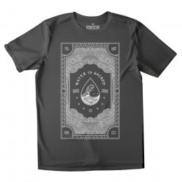 All Riot Water is Sacred Organic T-Shirt - Charcoal
