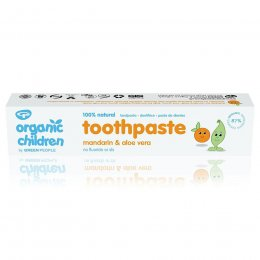 Green People Organic Children Mandarin & Aloe Vera Toothpaste with Fluoride - 50ml