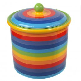 Handpainted Rainbow Storage Jar - large