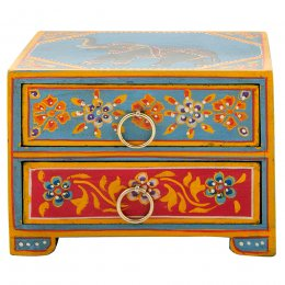 Elephant Painted 2 Drawer Chest