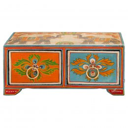 Double Elephant Painted 2 Drawer Chest