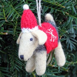 Hanging Christmas Decoration - Brian the Welsh Terrier