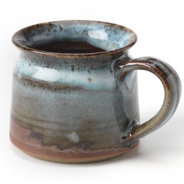 Handmade Blue Ceramic Speckled Mug
