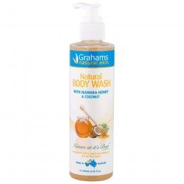 Grahams Natural Coconut & Manuka Honey Body Wash - 250ml