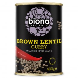 Biona Organic Brown Lentil Curry - 400g