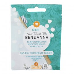 Ben & Anna Toothpaste Tablets with Fluoride - Mint - 40g