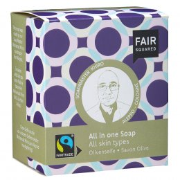 Fair Squared Olive All in One Soap with Cotton Soap Bag - All Skin Types - 2 x 80g