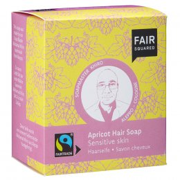 Fair Squared Apricot Hair Soap with Cotton Soap Bag - Sensitive Scalp - 2 x 80g