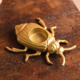 Ian Snow Gold Finish Bug Tealight Holder