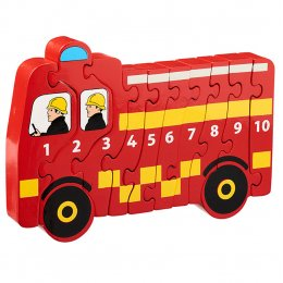 Lanka Kade Wooden Fire Engine Number 1-10 Jigsaw
