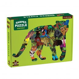 Mudpuppy Shaped Rainforest Jigsaw Puzzle - 300 Piece