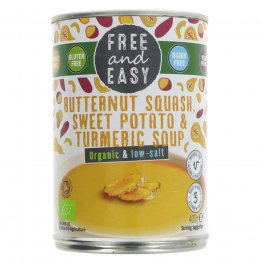 Free & Easy Butternut Squash, Sweet Potato & Turmeric Soup - 400g