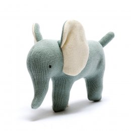 Organic Cotton Elephant Toy - Small