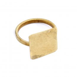 People Tree Brass Square Ring