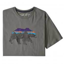 Patagonia Back for Good Bear Organic T-Shirt - Noble Grey