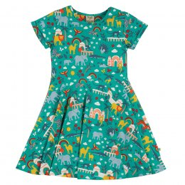 Frugi Jewel India Spring Skater Dress