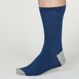 Thought Cobalt Blue Solid Jack Bamboo Socks - UK 7-11