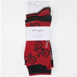 Thought Jonathan Bicycle Bamboo Sock Pack - 3 Pairs