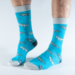Doris & Dude Teal Alligator Bamboo Socks - UK7-11