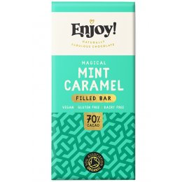 Enjoy Mint Caramel Filled Chcolate Bar - 70g