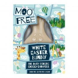 Moo Free White Chocolate Easter Bunny - 80g