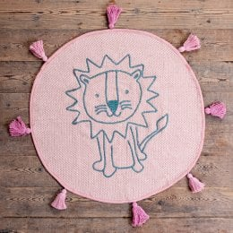 Ian Snow Pink Lion Recycled Cotton Rug