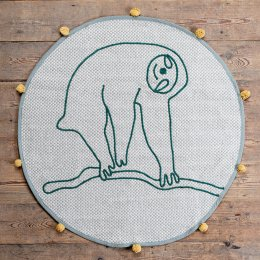 Ian Snow Grey Sloth Recycled Cotton Rug