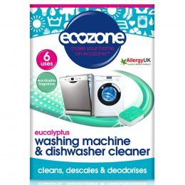 Ecozone Washing Machine & Dishwasher Cleaner - Eucalyptus - 6 Tablets