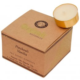 Fair Trade Patchouli & Vanilla Scented Tea Light Candles - Pack of 12