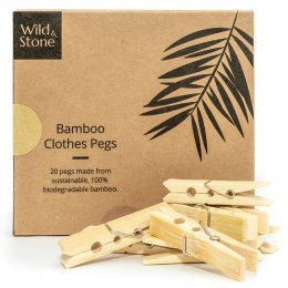 Wild & Stone Bamboo Laundry Pegs - Pack of 20