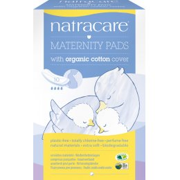 Natracare Organic Cotton New Mother Maternity Pads - Pack of 10