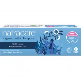 Natracare Organic Cotton Tampons - Super Plus - Pack of 20