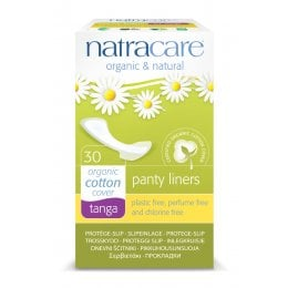 Natracare Organic Cotton Panty Liner - Tanga - Pack of 30