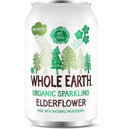 Whole Earth Organic Sparkling Elderflower - 330ml