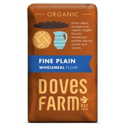 Doves Farm Organic Fine Plain Wholemeal Flour - 1kg