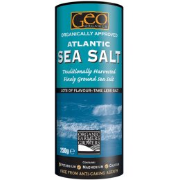 Geo Organics Atlantic Finely Ground Sea Salt - 500g