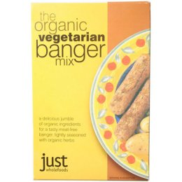 Just Wholefoods Vegetarian Banger Mix - 125g