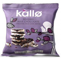 Kallo Belgian Milk Chocolate Organic Rice Cake Minis