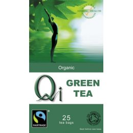 QI Organic Fairtrade Green Tea - 25 Bags