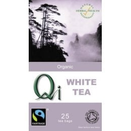QI Organic Fairtrade White Tea - 25 Bags