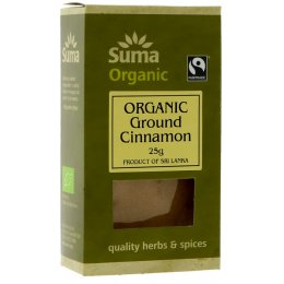 Suma Organic & Fairtrade Ground Cinnamon - 25g