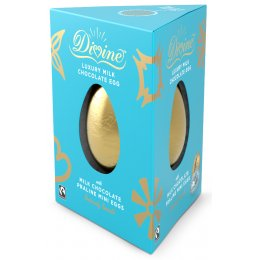 Divine Luxury Milk chocolate Easter Egg with Milk Chocolate Praline Eggs - 260g