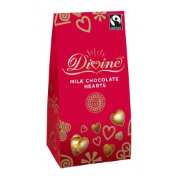 Divine Milk Chocolate Hearts - 100g